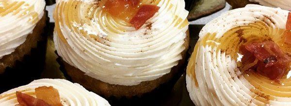 Closeup of heavenly cupcakes