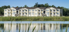 Exterior shot of a Ranch Lake apartments