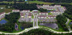 Aerial view of Ranch Lake apartments
