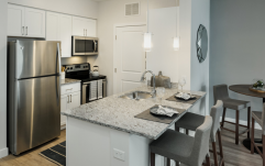 Interior kitchen and appliances at Landing53