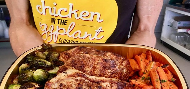 A prepared meal from Chicken or the Eggplant meal delivery service in Boston, MA.