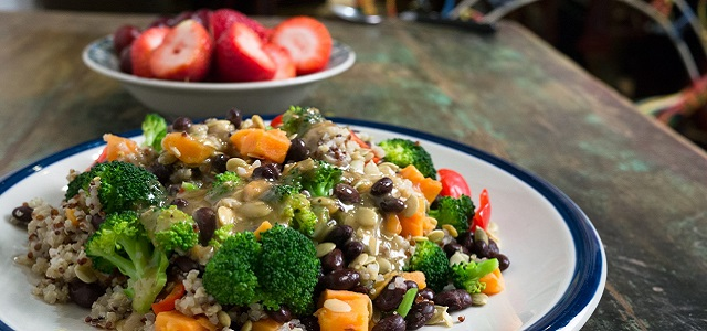 A fresh rice and veggie dinner from HelloFresh.