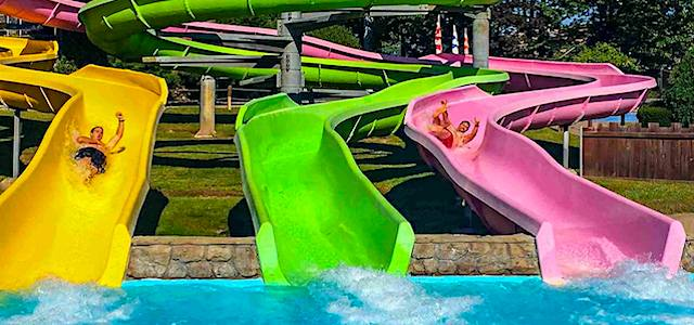 Colorful water slides