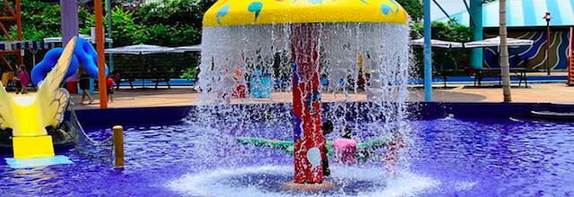 Water park fountain