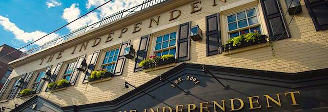 the outside of the independent restaurant
