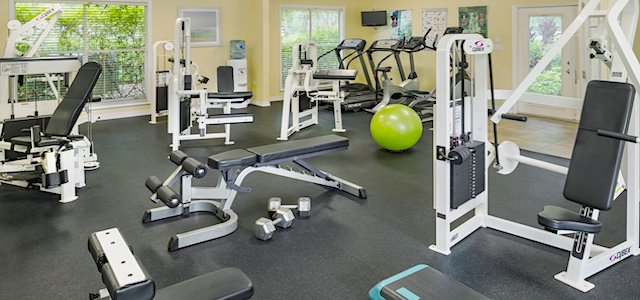 apartment fitness center at audubon cove in florida